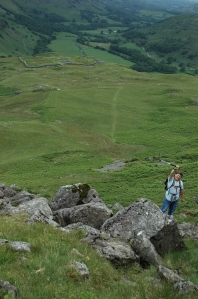 Roman ruins in Hardknott pass
