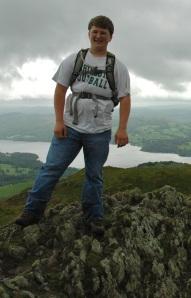 photo of John on top of Wansfell Pike