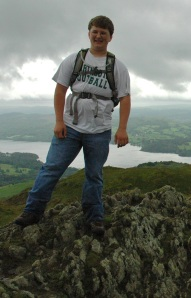 photo of John on top of Wansfell Pike