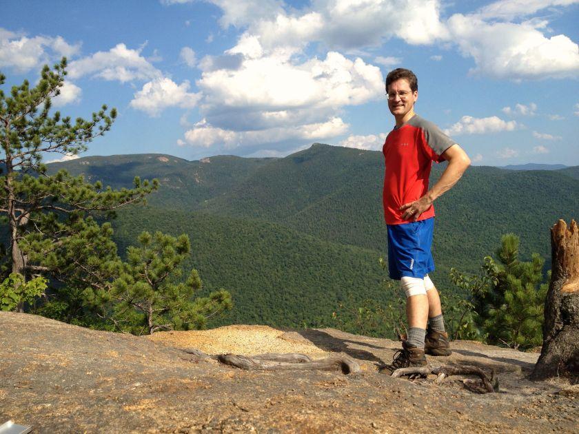 David on Frankenstein Cliffs