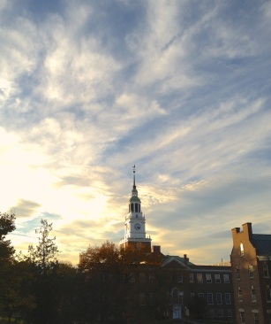 Baker Library and brilliant sky