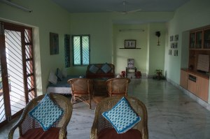 Common room at Aravind Guest House