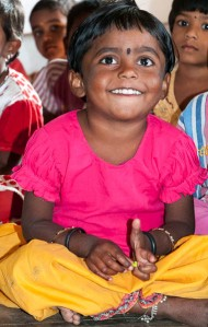 Children at a government-supported child-care center in the village of Rajballaram, near Hyderabad.