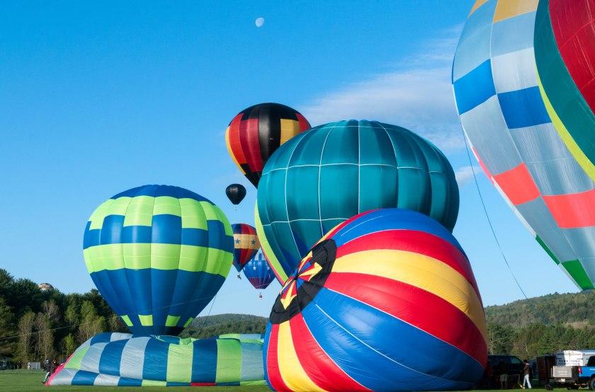 Photo of balloons launching