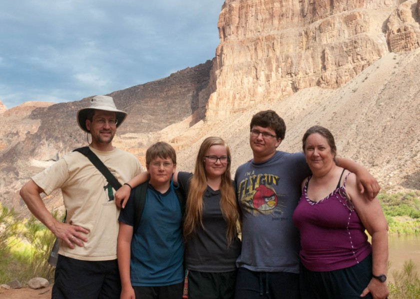 Family photo taken just prior to departing the canyon on the morning of Day 7.