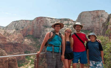 At our high point, close to Angels Landing, Zion NP.