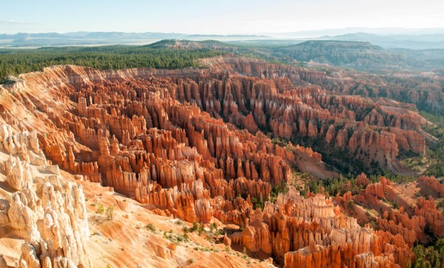 Bryce Canyon Amphitheatre from Inspiration Point, early morning.