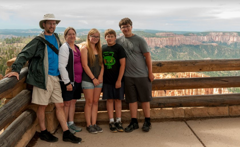 family photo at Bryce Canyon National Park