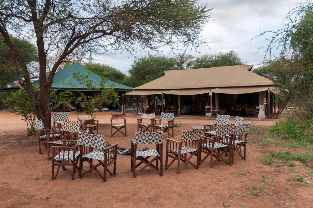 C&fire ring dining tent lounge tent at nyumba - Tarangire N.P. Tanzania. & Tarangire and Manyara | David Kotz