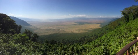 View from the rim of Ngorogoro crater, Tanzania.