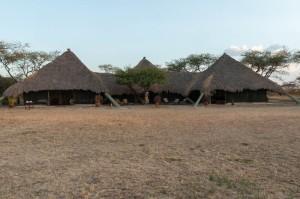 Main buildings at west-central nyumba, Serengeti N.P., Tanzania.
