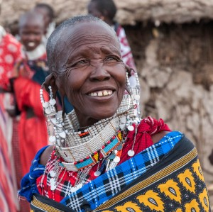 Woman at a Maasai boma near Enashiva, Tanzania.