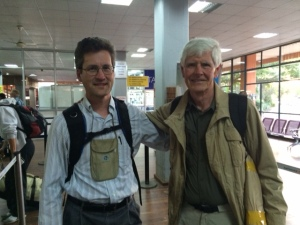 Professors Kotz and Hull in Kilimanjaro International Airport.