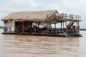 A bar in the Floating Village near Siem Reap, Cambodia.