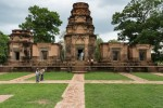 Prasat Kravan - small Angkor-area Hindu temple from 10th century. Five towers, made of brick and sandstone.