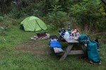 Our campsite at Burnham Meadow, in Windsor VT.