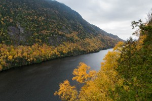 Lower Ausable Lake, from Outlook #1 on the Scenic Trail to Sawteeth.