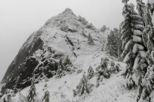 The 'haystack' summit of Mount Si.