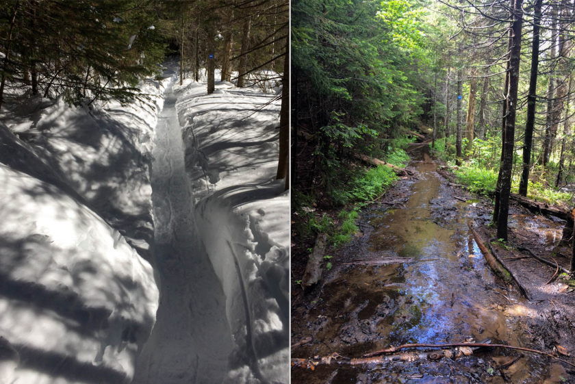 Bradley Pond Trail comparison