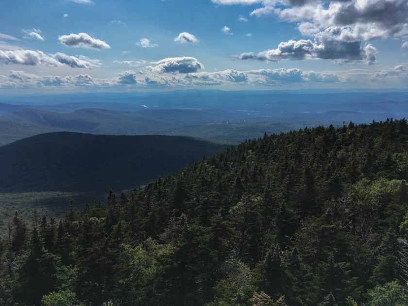 View of Lyme (back along my route) from Smarts Mountain summit tower.