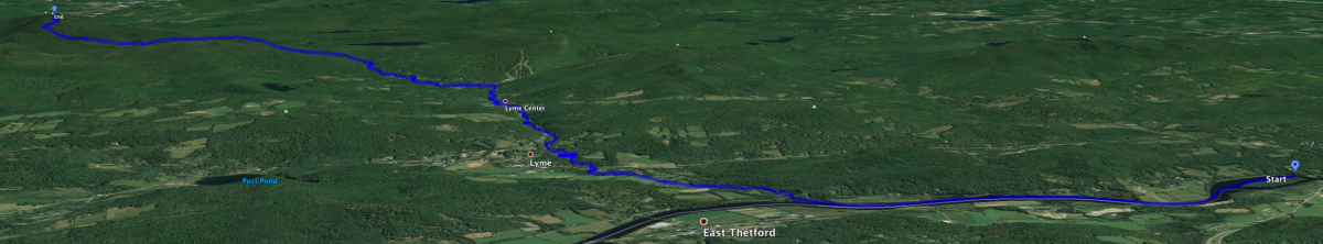 Google Earth view of route