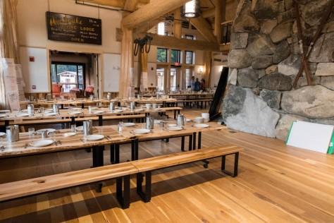 Ready for dinner at Moosilauke Ravine Lodge. Photo by David Kotz '86.