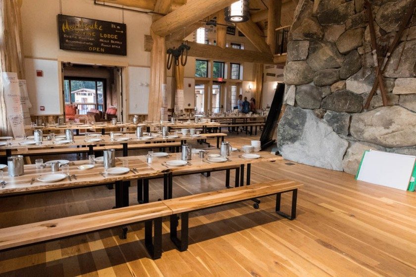 Ready for dinner at Moosilauke Ravine Lodge. Photo by David Kotz '86.