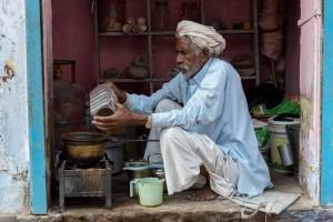 Chai wallah in Shahpura, Rajasthan.