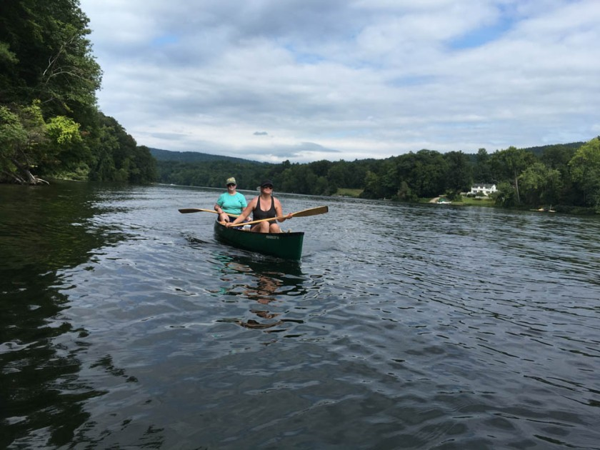 Pam and Mara on our annual canoe trip.