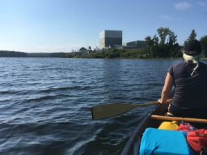 Vermont Yankee nuclear power plant, annual canoe trip. (Mara)