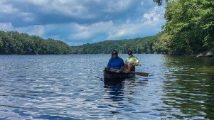 Pam and Andy on our annual canoe trip.