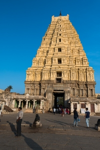 The Virupaksha Temple has been continuously maintained and utilized, in Hampi.