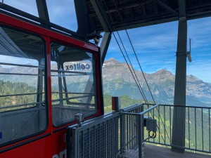 At the top of the Luftseilbahn Kies-Mettmen