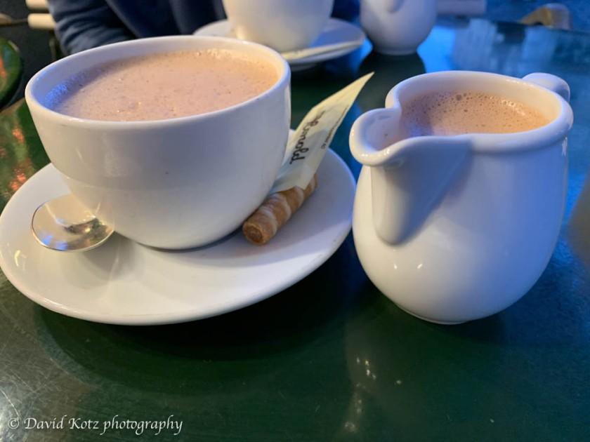 Hot chocolate in Zurich.
