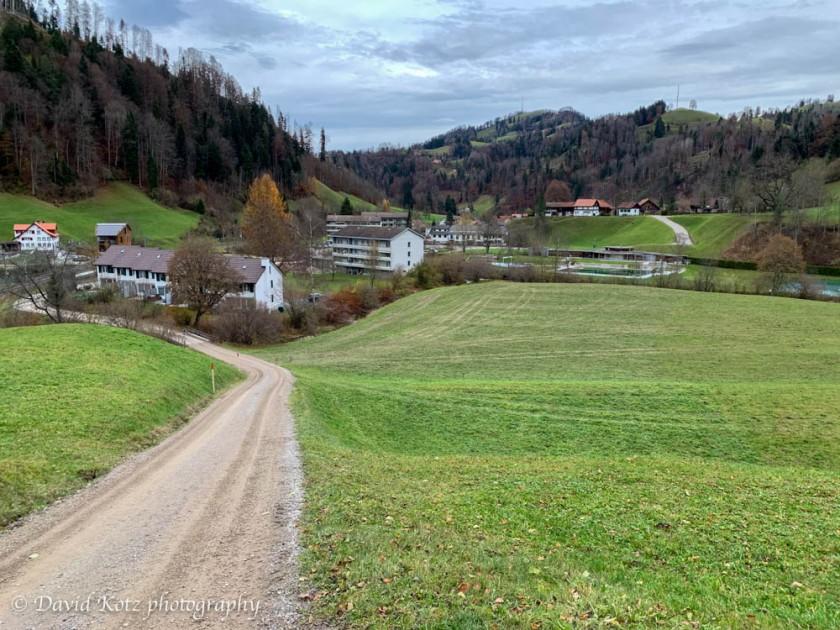 The little town of Steg, Switzerland.