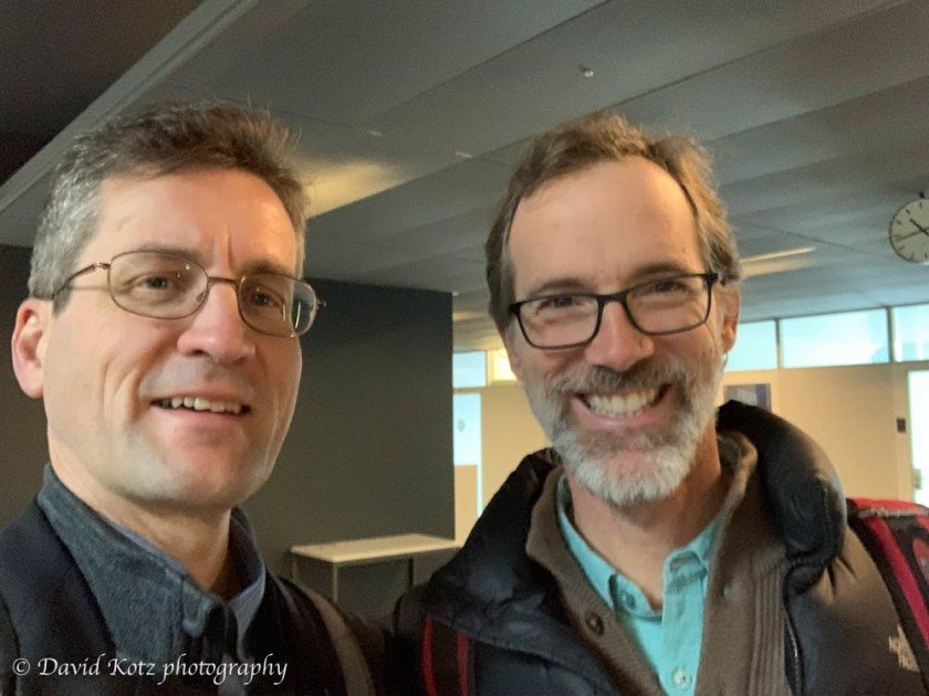 David with Christian Kull '91 in Lausanne.